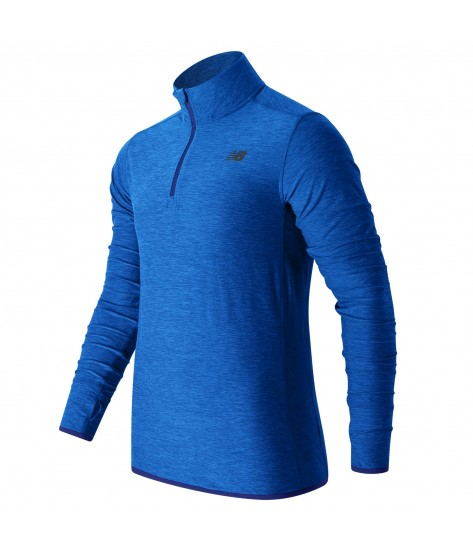 New Balance N Transit Quarter Zip - Royal Blue