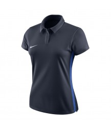 Nike Women's Academy 18 Polo - Obsidian / Royal Blue