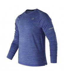 New Balance Seasonless Long Sleeve - Pacific Heather