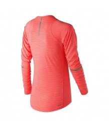 New Balance Women's Seasonless Long Sleeve - Vivid Coral